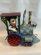 Disney Traditions Enesco Jim Shore Signed Mickey Mouse All Aboard Train 4016585