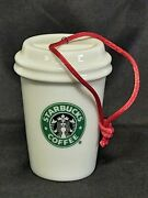 Starbucks 2006 Christmas Ornament Mini To Go Cup 1992 Siren Logo Holiday Collect