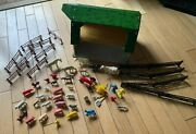 Vintage Marx Tin Litho Toy Happi Time Barn W/tractor, People And Animals