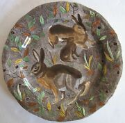 Gien French Faience Rambouillet Rabbits Dinner Plate Mint Vintage Condition