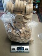 5.5 Pound Lot Vintage Wooden Tinker Toys Wood Wheels Replacement Parts Or Crafts