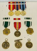 Medal Usmc Military Full Size Lot Medals To Honor Anodized Brass Excellent Cond