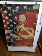 Vietnam Usa Flag Gas Mask Poster By Crm, Inc 24 X 36 Dead Stock 1960's War Etc