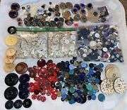Buttons Huge Lot Twelve Pounds Vintage Sewing Buttons 3lbs Great Fun Mix Pearl