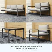 Outdoor Aluminum Seating Set With Seat Cushions Sectional Furniture Couch Patio