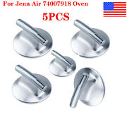 5x Chrome Stove Burner Control Knobs For Jenn Air 74007918 Oven Replacement Us