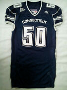 Vtg Made Usa Aeropostale Connecticut Uconn Pro Cut Football Game Jersey Size 50