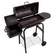 Charcoal Grill Smoker Bbq Cooking Porcelain Coated Char Broil Portable Barbeque