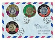 Qatar 1969 Cover To Germany With 1966 Issue Of Gold / Silver Foil Coin Stamps