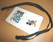 Disney D23 Expo Vip Pass Lanyard Mickey Mouse 2015 Fan Event Con Convention