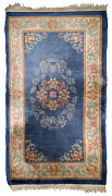 Handmade Vintage Art Deco Chinese Rug 2.10and039 X 5.6and039 89cm X 170cm 1960s - 1b721