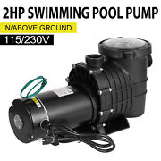 2hp Powerful Swimming Pool Filter Pump In/above Ground Motor Strainer 110v/220v
