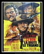 The Good The Bad The Ugly 4x6 Ft French Grande Movie Poster Rerelease 1970