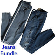 Garage Womenand039s Skinny Jeans Bundle 2 Pairs Size 7 Each Distressed Stretch