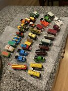 Over 30 Piece Lot Of Thomas The Tank Engine Woodened Trains And Vehicles