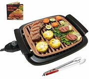 Nonstick Electric Indoor Smokeless Grill - Portable Bbq Grills With Recipes F...
