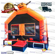 13x13ft Inflatable Halloween Combo Bounce House With Air Blower
