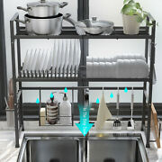 Over The Sink Dish Drying Rack Shelf Kitchen Storage Cooking Holder Stainless As