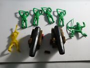 Vintage Marx Knights And Hand Made Cannons B
