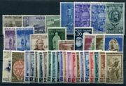 1950 Republic Italian, Year Complete, Stamps New, 37 Values, M