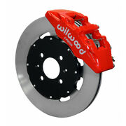 Wilwood For Honda Civic 90-99 Brake Kit Dynapro 6 Hat Drilled 12.19in Red