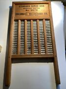 Vintage Maid-rite Wash Board Columbus Washboard Co. 2072 Standard Family Size