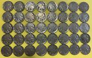 1936 Pds Buffalo Nickel 5-1936s 10-1936d 25-1936p Full Dates Nickles Lot7a