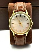 Omega Automatic Mens Watch Swiss Made Vintage 1950s 18r Crocograin Band