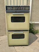 Ge Vintage Electric Double Oven Avocado Olive Green Mid Century Modern Ge Mcm