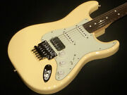 Fender Made In Japan Limited Stratocaster With Floyd-rose Vintage White _6936