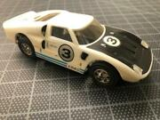 Vintage 1960's Ideal Motorific Racing Car Ford Gt Battery Operated Racerific