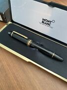 Authentic Mont Blanc 149 14k Gold 4810 Fountain Pen With Ink