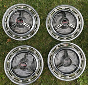 Oem Set 14andrdquo Chevrolet Ss Impala Spinner Hubcaps Chevelle Super Sport 1960andrsquos
