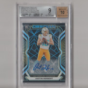 2020 Obsidian Rookie Autos Electric Etch Yellow Justin Herbert Rc /25 Bgs 9
