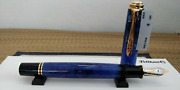 Pelikan Limited Edition Souveran M800 Blue ,blue Fountain Pen [with Box New]