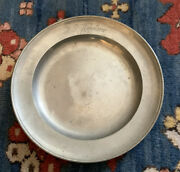 Antique 1874 Pewter Charger Plate By Gunzler 8.75 Inches Diameter