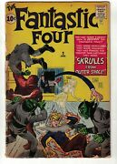 Marvel Comics Fantastic Four 2 Super Skrull 1st Appearance 2.0 G Thing Pin Up