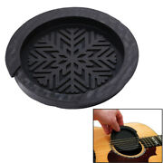 Acoustic Guitar Sound Hole Cover Rubber Musical Guitar Accessory Black Ih