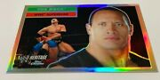 The Rock 2006 Topps Chrome Wwe Heritage Card Refractor Rare 10