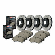 Stoptech For Audi Q5 2013 Front And Rear Brake Rotor And Brake Pads Sold As Kit