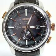 Seiko Astron Sbxa038 Japan Stainless Steel Date Gps Solar Mens Watch Auth Works