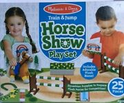 Melissa And Doug Train And Jump Horse Show Play Set For Ages 3+ - New
