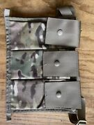 Military Issued Molle Ii Multi-cam Bandoleer 3-mag Side Pouch-new