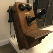 Antique Wooden Northern Electric Telephone Company Hand Crank Phone
