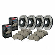 Stoptech Front/rear Brake Rotor 4 Wheel And Front/rear Brake Pads - Sold As Kit
