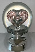 """Things Remembered """"say It With Love Musical Water Snow Globe Dome Engraved Mom"""