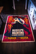 Rudolph Valentino 4x6 Ft French Grande Rerelease Movie Poster 1951