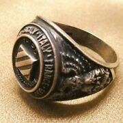 Marine Third Infantry Division Germany France Sicily Italy Sterling Silver Ring