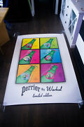 Perrier By Warhol Limited Edition 4x6 Ft Original Vintage Advertising Poster