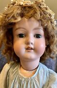C1890 Huge 31andrdquo Armand Marseille 390 German Bisque Doll Perfect W/human Hair Wig